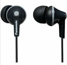 Panasonic RP-HJE125-K Stereo In Ear Canal Bud Ergofit Headphones RPHJE125 Black