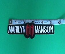 Marilyn Manson Iron On Patch! New USA Seller Gothic Metal Rob Zombie