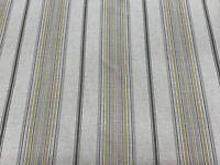 Glendale  Linen ochre Grey Woven Stripe 140cm wide  Curtain/Upholstery Fabric