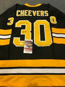 BOSTON BRUINS GERRY CHEEVERS AUTOGRAPHED SIGNED INSCRIBED JERSEY JSA COA