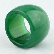 vogue green jade agate jadeite AAA grade thumb ring 12 # Chinese exports