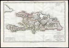 Rare Antique Map-SANTO DOMINGO-Jean Baptiste Poirson-Tardieu-1803