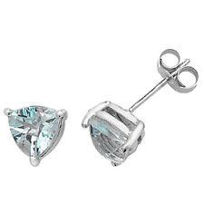 Pendientes de joyería con gemas azul de oro blanco