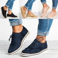 Top Womens Casual Shoes Plimsolls Flats Lace Up Brogues Oxfords Loafers Sneakers