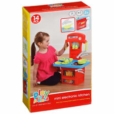 Electronic Kids Deluxe Pretend Play Kitchen Cooking Toy Mini kitchen With Sound