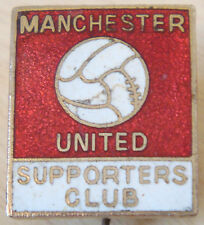 Manchester United Vintage sostenitori CLUB BADGE Maker Cassone London 19mm x 22mm