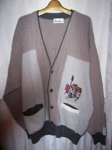 """men's XL 51""""chest Colucci sweater from Germany bears reading Wall Street Journal"""