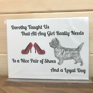 Novelty Sign fun dog humour Wizard of Oz Cairn Terrier posh shoes