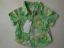 PUMPKIN PATCH BABY BOY GREEN JUNGLE PRINT SHIRT SIZE 000 FITS 0-3M *NEW *GIFT