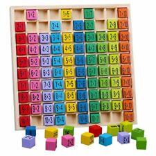 Montessori Spielzeug Einmaleins Mathematik Lernspiel Kinder Geschenk Naturholz