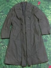 1944-1945 WWII US MARINE CORPS QUARTERMASTER LONG HEAVY WOOL TRENCH COAT SIZE M