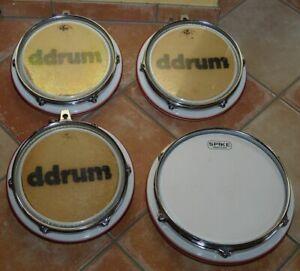 """DDrum EDrum 2/3/4 - 3 mal Tom 10""""  Pad und 1 12"""" Snare Pad , sehr guter Zustand"""