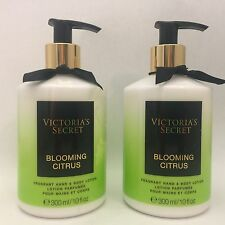 2 Bottles Victoria's Secret Blooming Citrus Fragrant Hand & Body Lotion 10 fl.oz