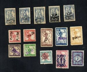 1918. 5xDIFF 'EXPRESS LETTER' O'PRINT STAMPS MNH & 10xDIFF EARLY POSTAGE DUES MH