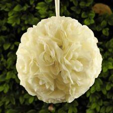 "6 pcs-7.5"" Rose Pomander Flower Kissing Ball Wedding Party Home Decoration-Ivory"