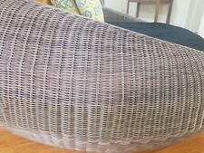 Round brown Wicker Daybed with cushion