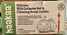 Haakaa Breastmilk Collector w/ Cleaning Brush & Lansinoh Lanolin Nipple Cream