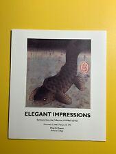 Elegant Impressions Surimono William Green 1990 Mead Art Museum Exhibit Brochure