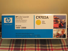 New Genuine HP Color LaserJet C9702A Yellow Print Cartridge for HP1500 2500