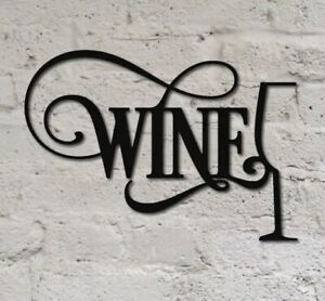 WINOMO Vintage Iron Painting Decorative Signs Tin Metal Car Wall Decor For Wall Home Bar Coffee Shop Decoration (WINE )