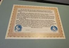 Nov 23 1983 Space Shuttle Columbia Spacelab 1 STS-9 Witness Certificate 8x10