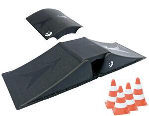 Aktion: Best Skater Doppelrampen-Set für Skateboard, Waveboard, Skaterrampe 8tlg