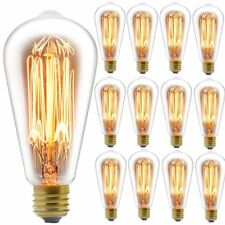 Edison Bulb, FadimiKoo Vintage Bulb 60W Dimmable ST58 Squirrel Cage Filament