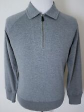 $1190 TOM FORD Gray 1/2 Zip Cashmere Cotton Sweatshirt Sweater 48 Euro Small