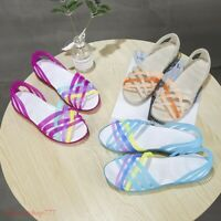 Women summer beach flat sandals open toe jelly hollow up colorful shoes beach