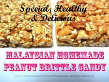 MALAYSIAN PEANUT CANDY BRITTLE Malaysia Delicious Snack with Sesame Seeds