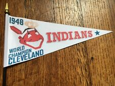"CLEVELAND INDIANS 1948 World Series Champions Replica Banner Mini Flag 8"" x 4"""
