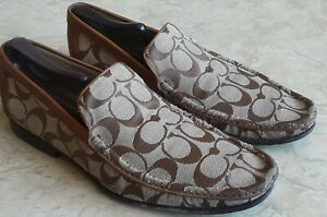 Coach George Men's Loafers Shoes CC Monograman Sz 8 Italy / 9 USA