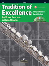 Tradition Of Excellence-Flute Music Book & Online Access Level 3-Brand New Sale!