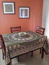Handmade Cotton Paisley Mandala Tablecloth Coverlet Spread Tapestry 87x90 Full