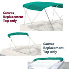 """Bimini Top Boat Cover Canvas Fabric Teal with Boot Fits 3 BOW 72""""L 46""""H 54""""-60""""W"""
