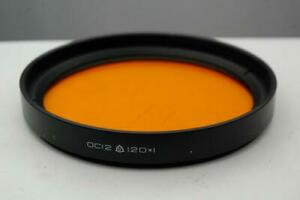 120mm Orange  lens filter, Soviet made,  excellent condition.