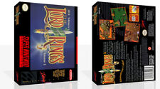 J.R.R Tolkien's Lord of the Rings Volume One SNES Game Case Box + Cover No Game