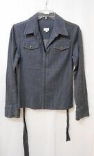 Marcs Baby Doll Denim Look Lightweight Jacket/Shirt Collared Zip Up - Sz 1 (10)