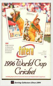 Cricket Card Box--1996 Futera World Cup Cricket Trading Card Factory Box (40)