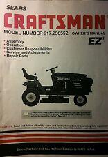 Sears 1996 Craftsman Lawn Garden Tractor Owner & Parts Manual 56p 917.256552 Mow