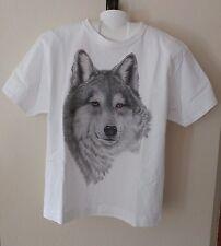 Gray Wolf T Shirt - L Hanes Tagless - White