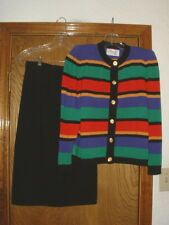 Women's Laura Petites by Alyzio Knit Skirt & Sweater Dress Set Size 6
