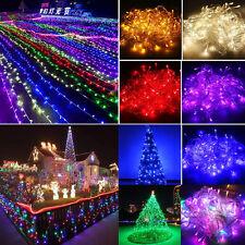 100-600 светодиодные гирлянды 10M-100M струнный светильник свадебная вечеринка дерево новый год декор