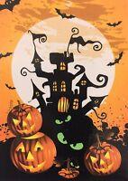 "Halloween Haunted House Flag 28"" X 40"" Halloween Decorative Designer House Flag"