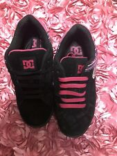 DC Womens Skateboard Shoes Pink & Pink Suede Sz 6 Wide