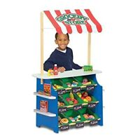Melissa & Doug Wooden Grocery Store and Lemonade Stand - Reversible Awning,