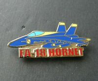 BLUE ANGELS HORNET FA-18 LAPEL HAT PIN NAVY USN BADGE 1.5 INCHES