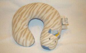Blankets and Beyond Baby Travel Plush Neck Pillow Toddler Zebra Zoo Animal