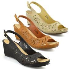 Buckle Mid Heel (1.5-3 in.) Wide (E) Sandals for Women