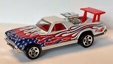 Loose Hot Wheels '68 CHEVROLET EL CAMINO STAR SPANGLED *WHITE* PEARL 5SP 1/64